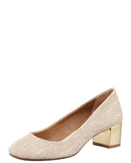 Tory Burch Madison Burlap Pump