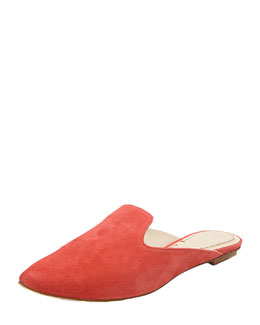 Elizabeth and James Marti Suede Flat Mule, Coral