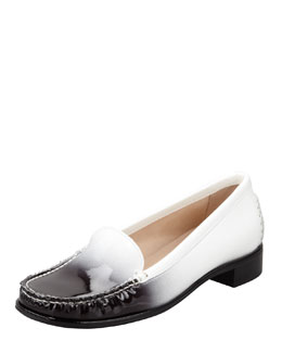 Stuart Weitzman Ombre Patent-Leather Loafer