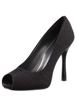 Stuart Weitzman Idbaton Goosebump-Leather Pump, Black
