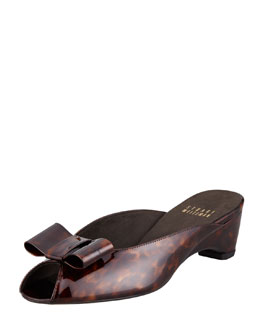 Stuart Weitzman Patent Leather Slip-On Mule