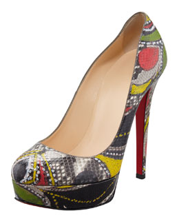 Christian Louboutin Bianca Python Red Sole Pump