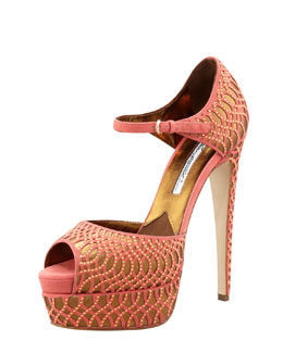 Brian Atwood TriBeCa Suede Mary Jane Pump