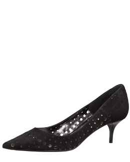 Jimmy Choo Mila Suede Cutout Pump, Black