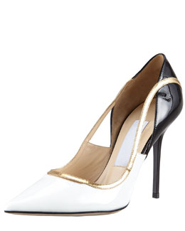 Jimmy Choo Vero Colorblock Patent Leather Pump