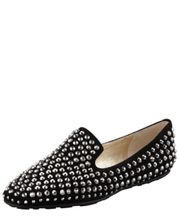 Jimmy Choo Wheel Studded Suede Loafer