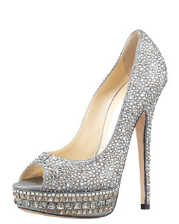Jimmy Choo Kendall Beaded Platform Pump