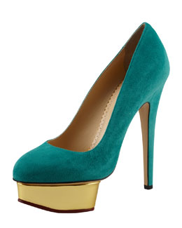 Charlotte Olympia Dolly Removable-Strap Platform Pump