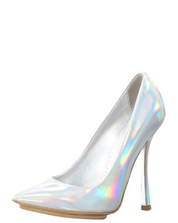 Stella McCartney Mirror Prism Pump, Silver
