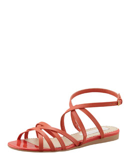 Stella McCartney Double Crisscross Ankle-Wrap Sandal