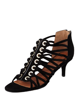 Givenchy Cage Zip-Back Sandal