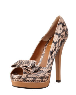 Fendi Deco Whip Snake Pump