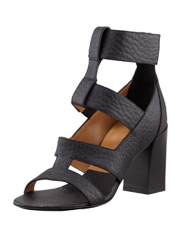 Chloe Leather Ladder Sandal