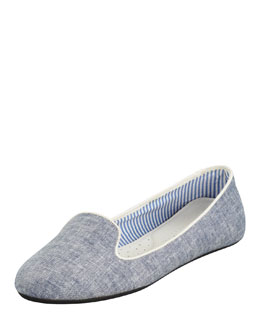 Charles Phillip Shanghai Sheila Chambray Smoking Slipper