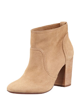 Tory Burch Lindsay Suede Bootie, New Almond