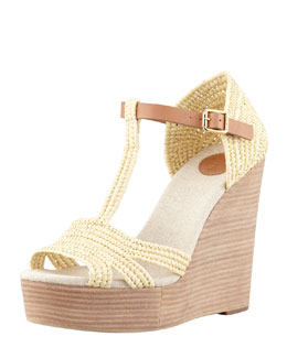 Tory Burch Carina Macrame Wedge Sandal