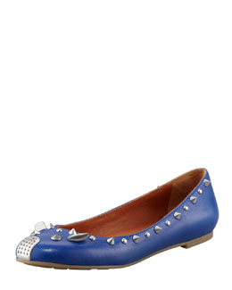 MARC by Marc Jacobs Studded Mouse Ballerina Flat, Blue