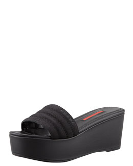 Prada Platform Wedge Slide
