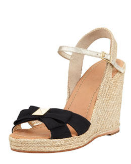 kate spade new york carmelita bow espadrille wedge sandal