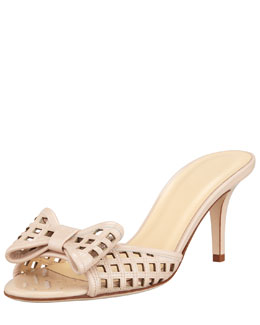 kate spade new york mailyn patent cutout slide, powder nude