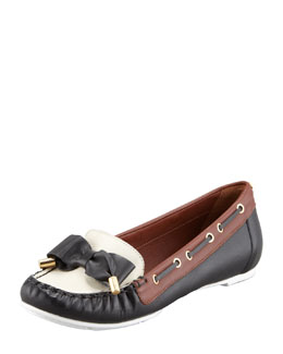 kate spade new york wren bow-detailed boat shoe