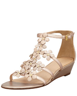 kate spade new york vikki floral micro-wedge sandal