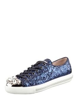 Miu Miu Jeweled Cap Toe Sneaker