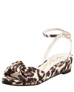 Alice + Olivia Alexi Leopard-Print Low-Wedge Sandal