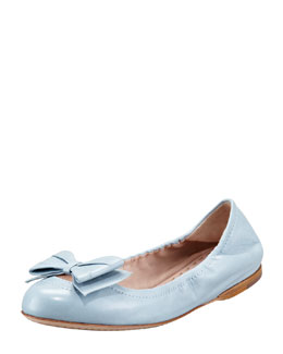 Miu Miu Ballerina Bow Flat, Light Blue