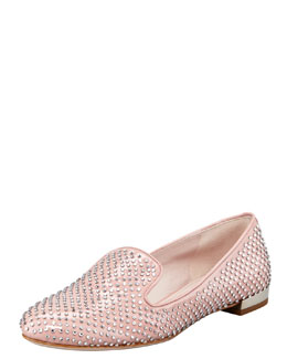 Miu Miu Micro Crystal Patent Leather Oxford
