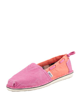 TOMS Colorblock Boat Shoe, Pink/Orange