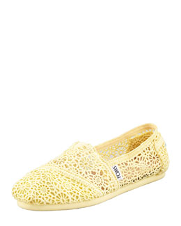 TOMS Crochet Slip-On, Lemon Yellow