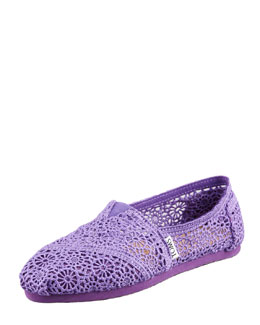 TOMS Crochet Slip-On, Purple