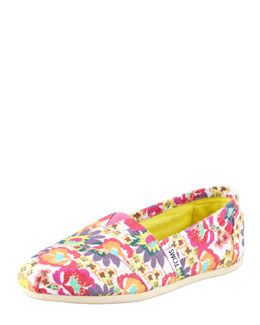 TOMS Floral-Print Canvas Slip-On