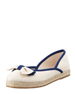 RED Valentino Flat Canvas Bow Espadrille