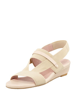 Stuart Weitzman Here to Stay Stretch Slingback Sandal, Nude