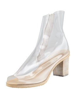 MM6 Maison Martin Margiela PVC Ankle Boot, Clear