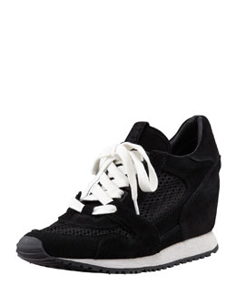 Ash Dean Wedge Sneaker, Black
