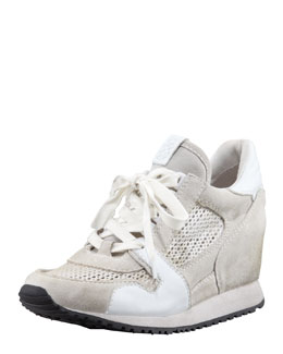 Ash Dean Wedge Sneaker, White