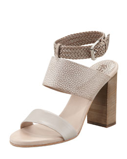 Brunello Cucinelli Braided Leather-Strap Sandal