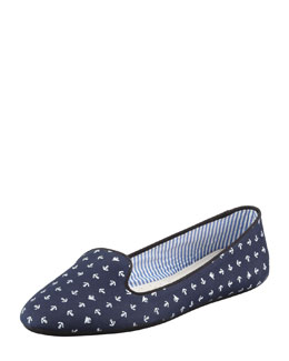 Charles Phillip Shanghai Tropez Anchor-Print Slip-On Loafer