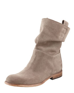 Alberto Fermani Umbria Snap-Back Ankle Boot, Taupe