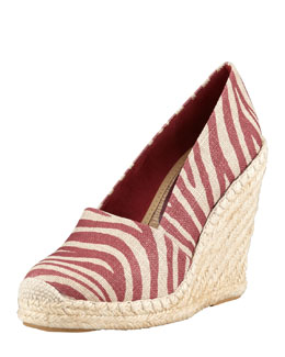 Stella McCartney Zebra-Print Espadrille Wedge
