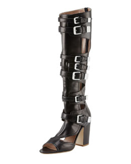 Laurence Dacade Dolene Multi-Buckle Knee Boot, Black