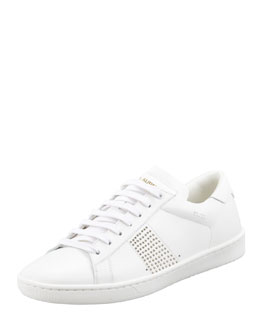 Saint Laurent Saint Laurent Studded Sneaker, White