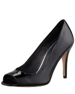 Stuart Weitzman Stylish Peep-Toe Pump, Black