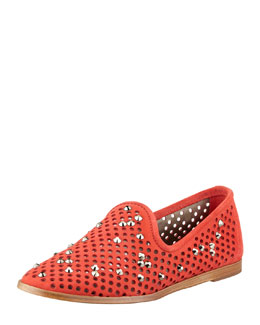 Pedro Garcia Yaden Perforated Crystal Smoking Slipper, Campari