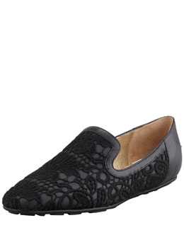 Jimmy Choo Wheel Lace Weekend Loafer, Black