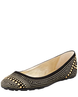 Jimmy Choo Welda Studded Ballerina Flat, Black