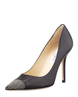 Jimmy Choo Amika Studded Cap-Toe Pump